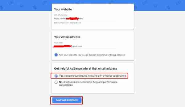 التسجيل في جوجل ادسنس الخطوة الرابعة