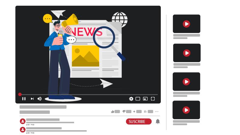 قناة يوتيوب عن الأخبار و التعليق عليها