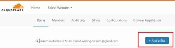 الحصول على شهادة SSL مجانية من Cloudflare الخطوة 2