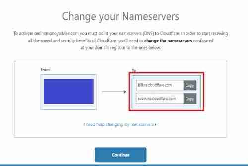 الحصول على شهادة SSL مجانية من Cloudflare الخطوة 4