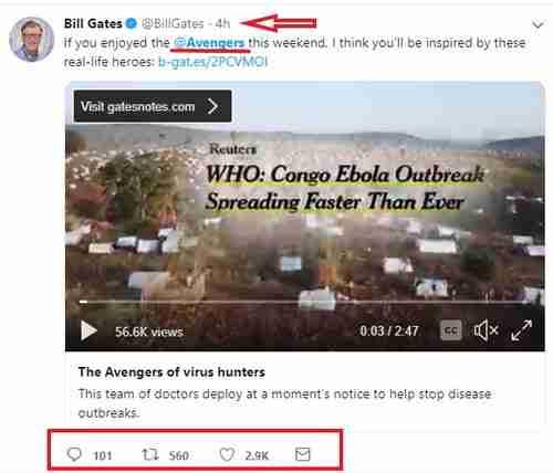مثال على تغريدة رائعة على تويتر
