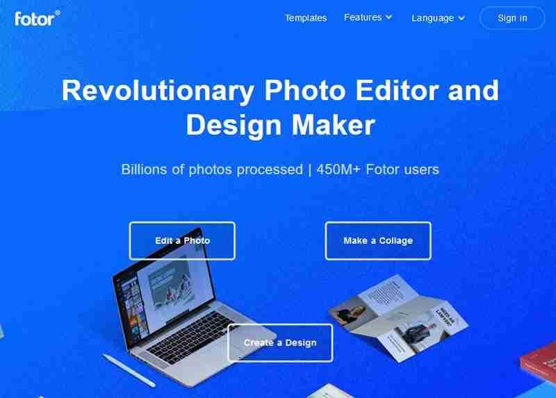 أداة Fotor لتعديل الصور أونلاين