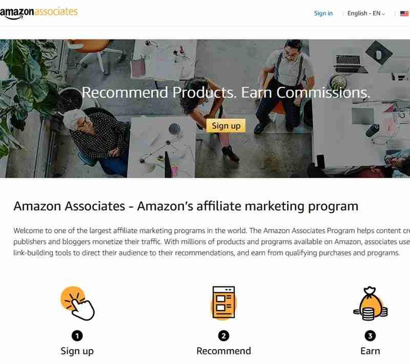 Profit from Amazon through affiliate marketing