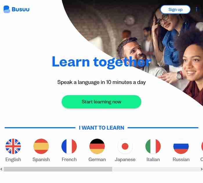 تطبيق busuu لتعلم اللغة الإنجليزية