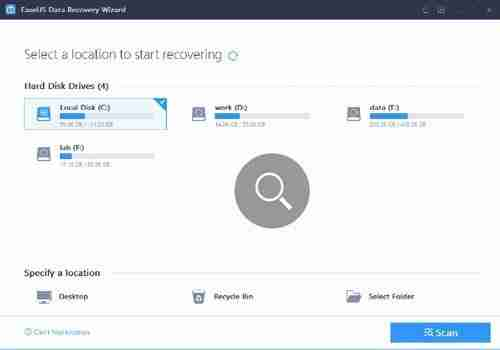 Ease US Data Recovery Software user interface