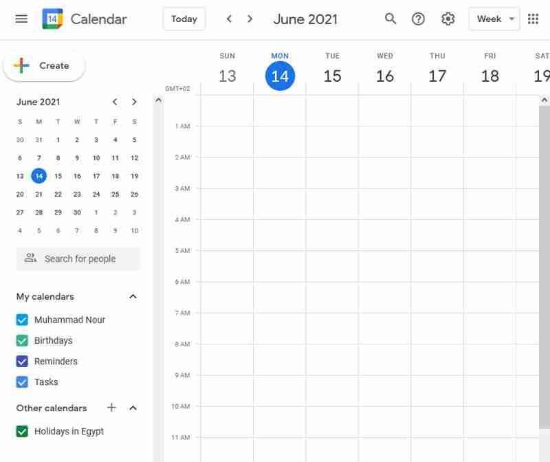 تطبيق جوجل كالندر لتنظيم الوقت