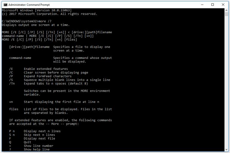 more command windows 10