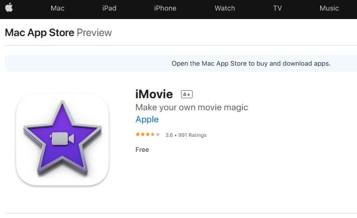 برنامج iMovie المجاني لتعديل الفيديوهات لنظام ماك