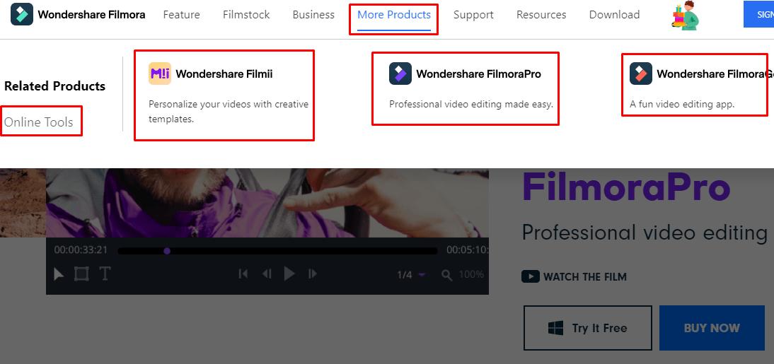 منتجات Wondershare لصنع وتعديل الفيديوهات والتسجيل من الشاشة (Filmora)