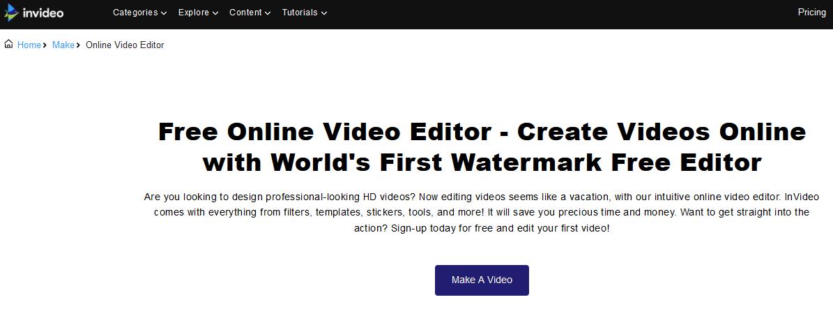 منصة InVideo لصنع الفيديوهات أونلاين
