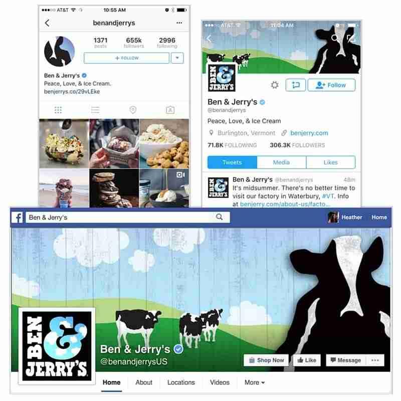 نموذج لاستخدام الهويّة البصرية على منصات التواصل الاجتماعي