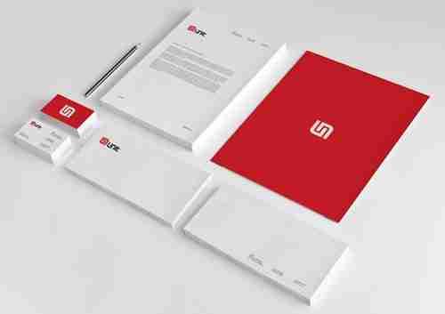 نموذج لتصميم الشعار الدعائي ومواد العلامة التجارية