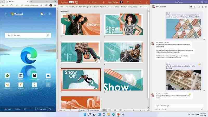 ميزة multiple windows على نظام تشغيل ويندوز 11